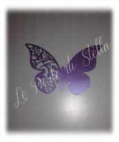 Farfalla segnaposto bicchiere colore viola