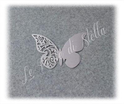 Farfalla segnaposto bicchiere colore lilla - conf. da n. 10 pz