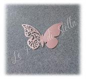 Farfalla segnaposto bicchiere colore rosa