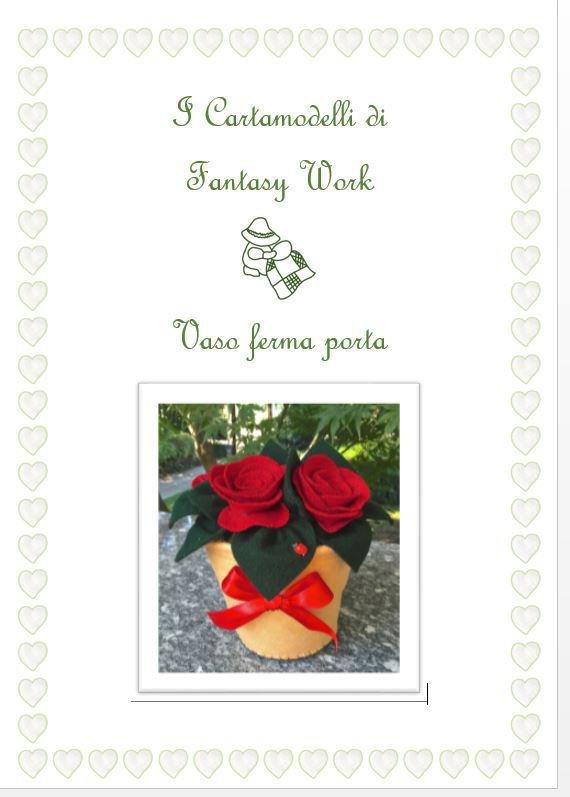 TUTORIAL ferma porta vaso di fiori -  versione PDF