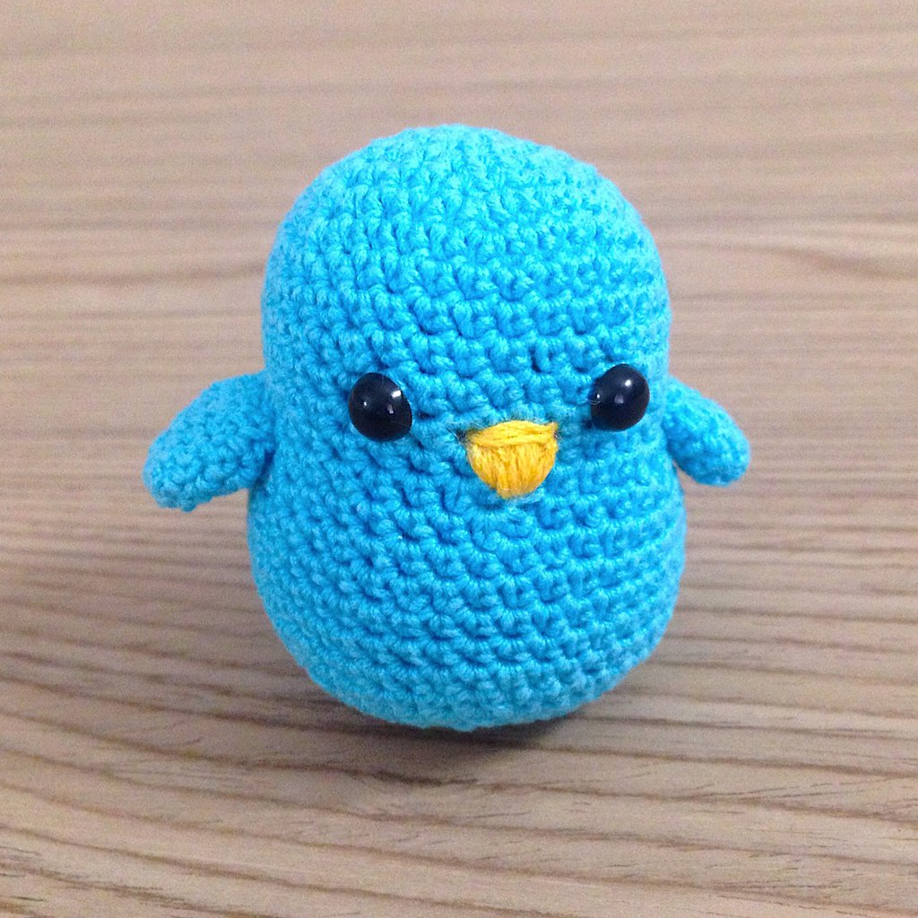 Uccellino Azzurro Amigurumi Fatto A Mano Alluncinetto Per La Cas
