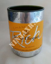 Vaso bottiglia champagne Veuve Clicquot RICH Edition fatto a mano riciclo creativo arredo