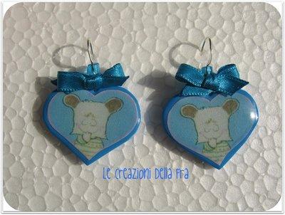 Orecchini Spank cuore azzurro