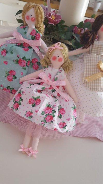 bambolina stoffa handmade