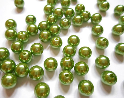 160 Perle acriliche verdi 8mm