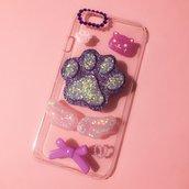 cover decorata a mano per iPhone 6 con zampa di cagnolino in resina!