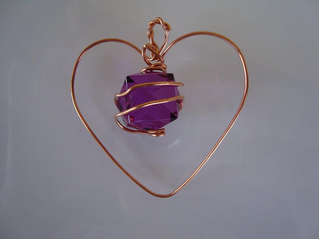 Decorazione cuore rame