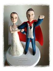 Cake topper sposo superman