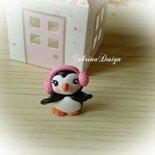 Bomboniera bimba pinguino invernale Natale in fimo confettata nascita battesimo comunione compleanno