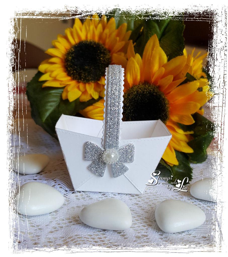 Anniversario Matrimonio Confetti.Cestino Porta Confetti Per Matrimonio 25 Anniversario Feste