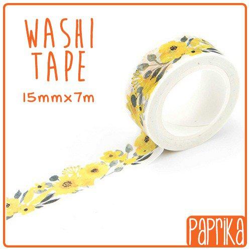 Washi Tape 7 metri - Fiori Gialli