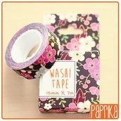 Washi Tape 7 metri - Fiori rosa