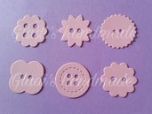 250 bottoni taglio misto in cartoncino