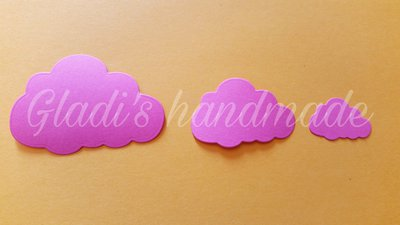 60 nuvolette in cartoncino (6cmX4cm)