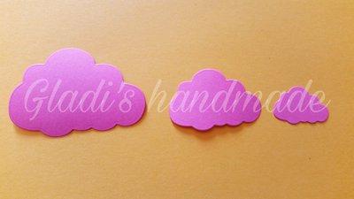 100 nuvolette in cartoncino (2,6cmX1,6cm)