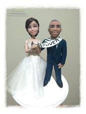 Cake topper caricatura sposi