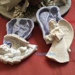 Stampi angeli Natalizi/Christmas molds
