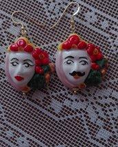 Orecchini ceramica  perle di Caltagirone