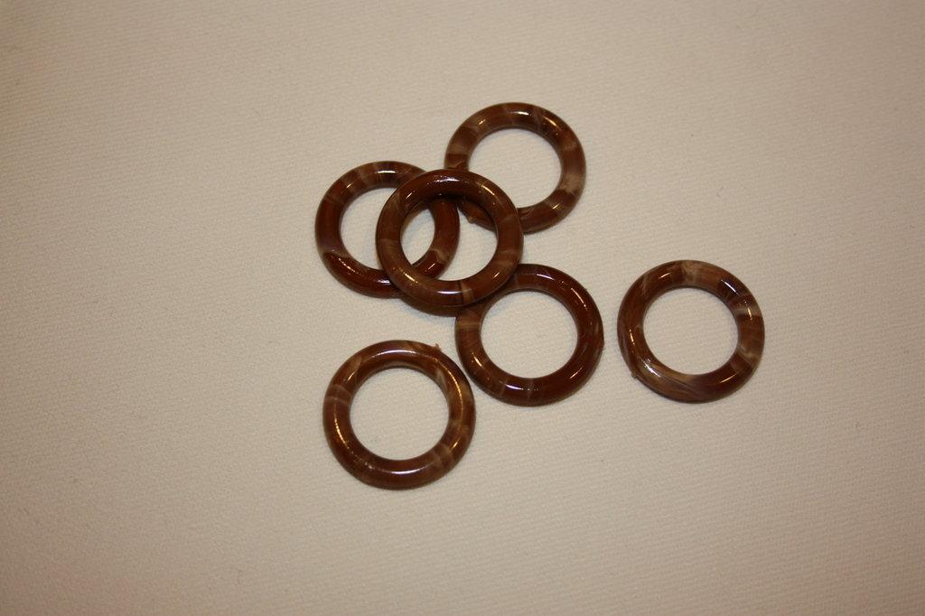 anello plastica tondo mm 15 beige