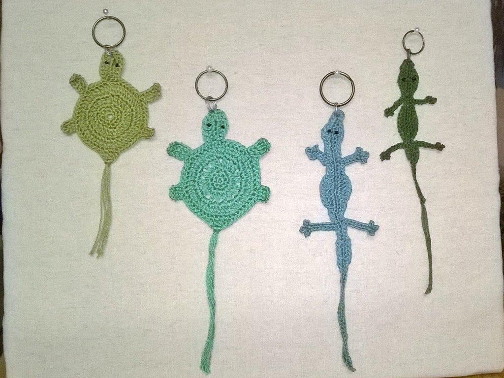 Tartarughe e coccodrilli portachiavi