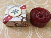 Segnaposto Natale scatolina porta candela azzurra
