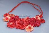 Collana kanzashi  con fiori 1.2