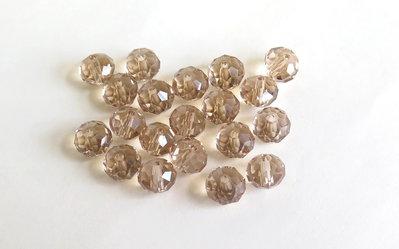 Perle Crystal sfaccettate   PRL1n