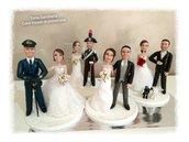 Cake topper personalizzato sposi