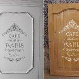 Adesivo shabby chic Cafe de Paris Rue de Provence