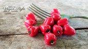 Peperone rosso fimo verdura ciondolo charms pendente materiale creativo vegan vegetariano