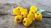 Peperone giallo fimo verdura ciondolo charms pendente materiale creativo vegan vegetariano