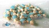 Baby tartarughe ciondolo pendente fimo materiale per creare bigiotteria bomboniere  matrimonio nascita laurea