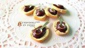 Pane cioccolato fimo ciondolo pendente dolci charm materiale per creare bigiotteria bomboniere laurea