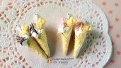 Coni panna biscotto ciondolo charm fimo pendente dolce materiale creativo