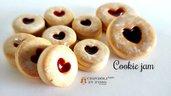 Biscotto cuore di marmellata cioccolata ciondolo fimo charm pendente materiale creare bigiotteria bomboniere