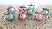 Ostrica kawaii ciondolo fimo pendenti charms materiale per creare bigiotteria bomboniere feste