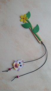 Segnalibro fiore e foglie