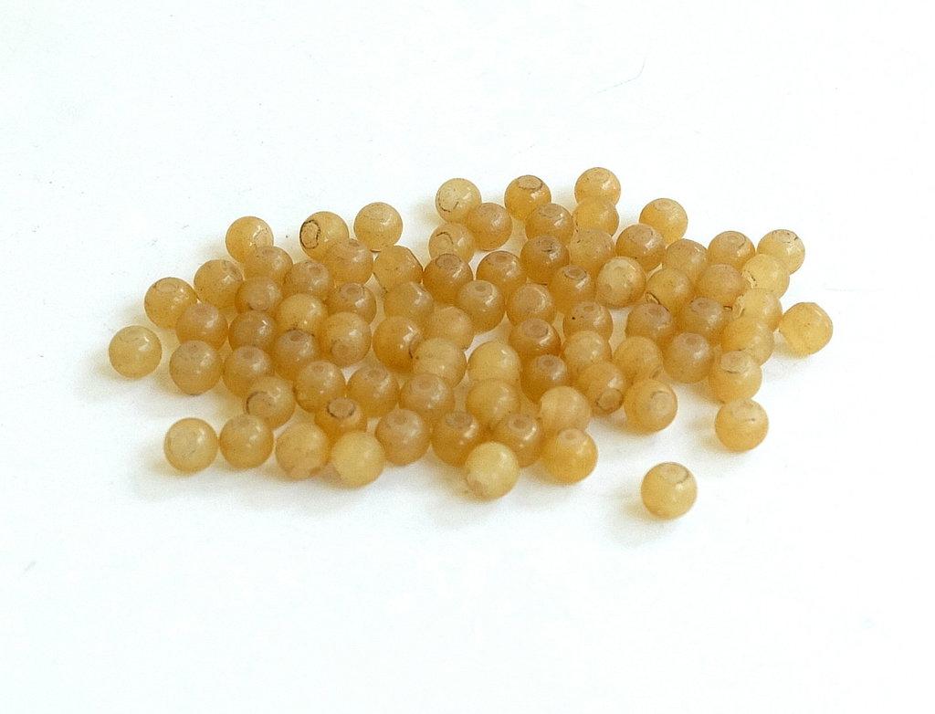 30 Perle di vetro color miele   PRL374