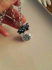 Collana boccetta fiore di loto