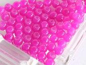 20 Perle di vetro FUCSIA 4 mm PRL418