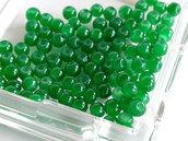 20 Perle di vetro verde 4 mm PRL419