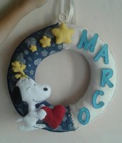 Fiocco nascita Snoopy