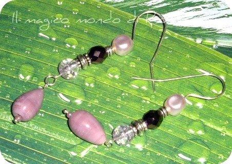 Orecchini Purple Drop