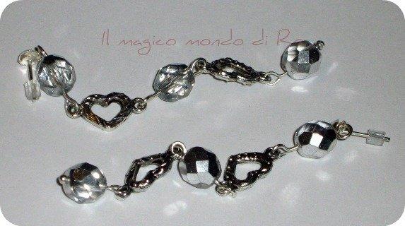 Orecchini Silver hearts