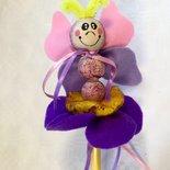 Matita con farfallina pannolenci, omaggio per festa compleanno, bomboniera per Prima Comunione