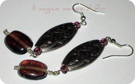 Orecchini Etno Purple