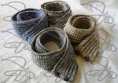 Scaldacollo lana unisex realizzato a mano
