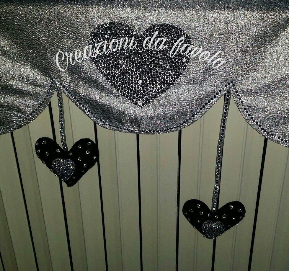 Copritermosifone argento con cuore