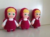 Masha bambolina realizzata a mano