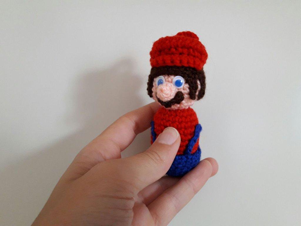 Super Mario e Luigi -portachiavi/bomboniera realizzati a mano